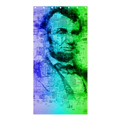 Abraham Lincoln Portrait Rainbow Colors Typography Shower Curtain 36  x 72  (Stall)
