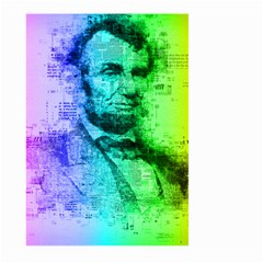 Abraham Lincoln Portrait Rainbow Colors Typography Large Garden Flag (Two Sides)