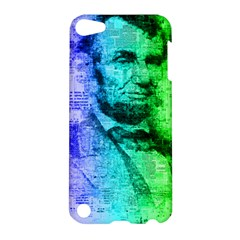 Abraham Lincoln Portrait Rainbow Colors Typography Apple iPod Touch 5 Hardshell Case