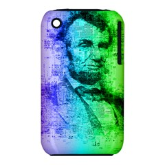 Abraham Lincoln Portrait Rainbow Colors Typography iPhone 3S/3GS