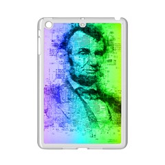 Abraham Lincoln Portrait Rainbow Colors Typography iPad Mini 2 Enamel Coated Cases