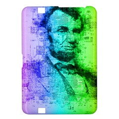 Abraham Lincoln Portrait Rainbow Colors Typography Kindle Fire HD 8.9