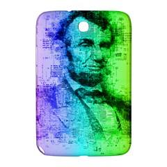 Abraham Lincoln Portrait Rainbow Colors Typography Samsung Galaxy Note 8.0 N5100 Hardshell Case