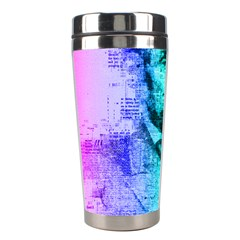 Abraham Lincoln Portrait Rainbow Colors Typography Stainless Steel Travel Tumblers