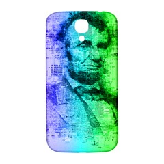 Abraham Lincoln Portrait Rainbow Colors Typography Samsung Galaxy S4 I9500/I9505  Hardshell Back Case