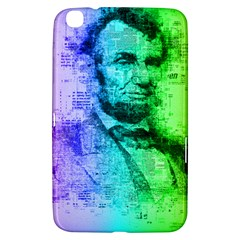 Abraham Lincoln Portrait Rainbow Colors Typography Samsung Galaxy Tab 3 (8 ) T3100 Hardshell Case