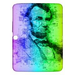 Abraham Lincoln Portrait Rainbow Colors Typography Samsung Galaxy Tab 3 (10.1 ) P5200 Hardshell Case