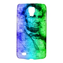 Abraham Lincoln Portrait Rainbow Colors Typography Galaxy S4 Active