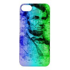 Abraham Lincoln Portrait Rainbow Colors Typography Apple iPhone 5S/ SE Hardshell Case