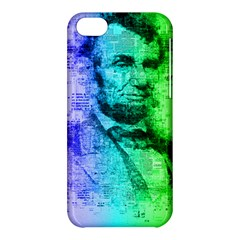 Abraham Lincoln Portrait Rainbow Colors Typography Apple iPhone 5C Hardshell Case