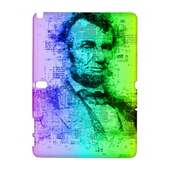 Abraham Lincoln Portrait Rainbow Colors Typography Galaxy Note 1