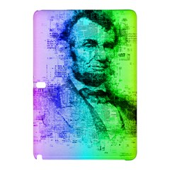 Abraham Lincoln Portrait Rainbow Colors Typography Samsung Galaxy Tab Pro 12.2 Hardshell Case
