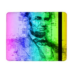 Abraham Lincoln Portrait Rainbow Colors Typography Samsung Galaxy Tab Pro 8.4  Flip Case