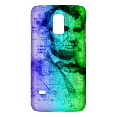 Abraham Lincoln Portrait Rainbow Colors Typography Galaxy S5 Mini