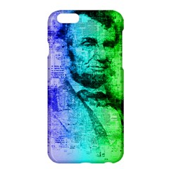 Abraham Lincoln Portrait Rainbow Colors Typography Apple iPhone 6 Plus/6S Plus Hardshell Case