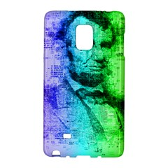 Abraham Lincoln Portrait Rainbow Colors Typography Galaxy Note Edge