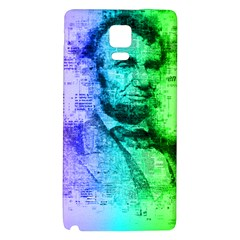 Abraham Lincoln Portrait Rainbow Colors Typography Galaxy Note 4 Back Case