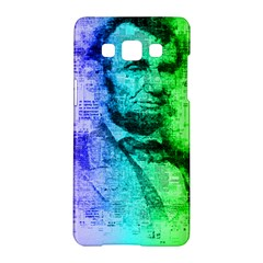 Abraham Lincoln Portrait Rainbow Colors Typography Samsung Galaxy A5 Hardshell Case
