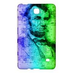 Abraham Lincoln Portrait Rainbow Colors Typography Samsung Galaxy Tab 4 (7 ) Hardshell Case