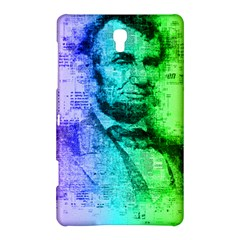 Abraham Lincoln Portrait Rainbow Colors Typography Samsung Galaxy Tab S (8.4 ) Hardshell Case