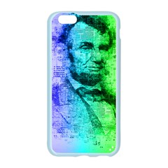 Abraham Lincoln Portrait Rainbow Colors Typography Apple Seamless iPhone 6/6S Case (Color)