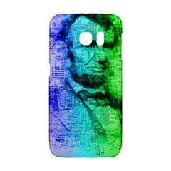 Abraham Lincoln Portrait Rainbow Colors Typography Galaxy S6 Edge