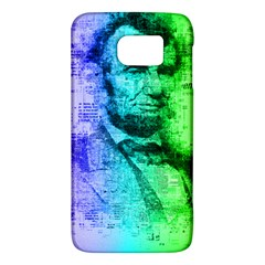 Abraham Lincoln Portrait Rainbow Colors Typography Galaxy S6