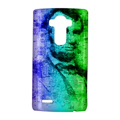 Abraham Lincoln Portrait Rainbow Colors Typography LG G4 Hardshell Case
