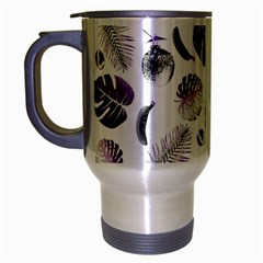 Tropical pattern Travel Mug (Silver Gray)