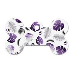 Tropical pattern Dog Tag Bone (One Side)
