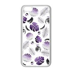 Tropical pattern Apple iPhone 5C Seamless Case (White)