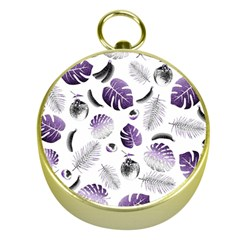 Tropical pattern Gold Compasses