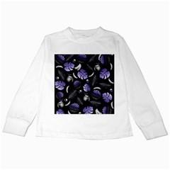 Tropical pattern Kids Long Sleeve T-Shirts