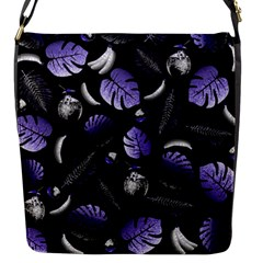 Tropical pattern Flap Messenger Bag (S)