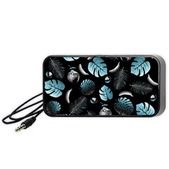 Tropical pattern Portable Speaker (Black)