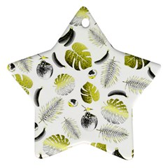 Tropical pattern Star Ornament (Two Sides)