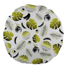 Tropical pattern Large 18  Premium Round Cushions