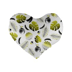 Tropical pattern Standard 16  Premium Heart Shape Cushions