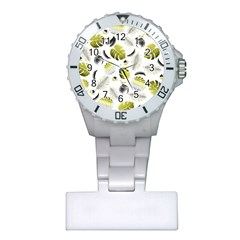 Tropical pattern Plastic Nurses Watch