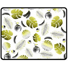 Tropical pattern Double Sided Fleece Blanket (Medium)