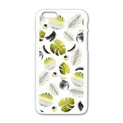 Tropical pattern Apple iPhone 6/6S White Enamel Case