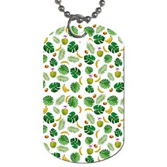 Tropical pattern Dog Tag (Two Sides)