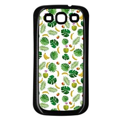 Tropical pattern Samsung Galaxy S3 Back Case (Black)