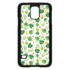 Tropical pattern Samsung Galaxy S5 Case (Black)