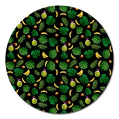Tropical pattern Magnet 5  (Round)