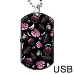 Tropical pattern Dog Tag USB Flash (One Side)
