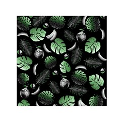 Tropical pattern Small Satin Scarf (Square)