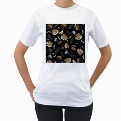 Tropical pattern Women s T-Shirt (White) (Two Sided)