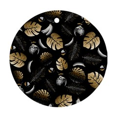 Tropical pattern Round Ornament (Two Sides)