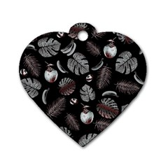 Tropical pattern Dog Tag Heart (Two Sides)